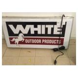 White Outdoor Products Lighted Sign