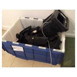 box of holsters & leather misc.