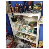white shelf & contents
