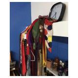 ties, rack & clock
