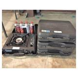 4 portable gas cook stove & 4 cans fuel
