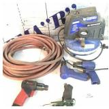 Campbell air compressor (works) & 4 air hammers