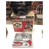 2 new auto waterers, tool kit