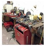 tool box, tools, file cabinet, oxy/accet bottles,