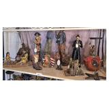 group western decor on top shelf only