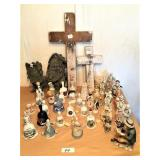 group: bells, crosses, misc figurines