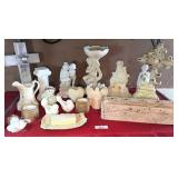 group of statues, crosses, misc