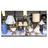 group of lamps