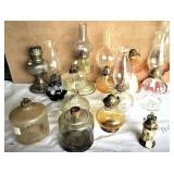 group of  oil lamps