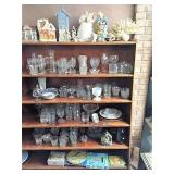 glass ware on 6 shelves