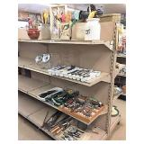 utensils, flatware & household  on 4 shelves