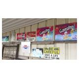 Gansito, Coke & misc metal signs