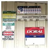 Coke,Safety, Doral, misc metal signs