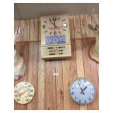 SW lighted  clock, Standard clock, & Springfield