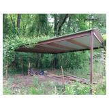 20x20 metal shed: front 9