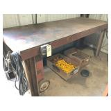 """Welding table 32 x 84 w/3/8"""" thick top"""