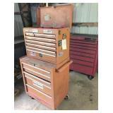 stack on tool chest: top is 8 drawers 26x12x20 &
