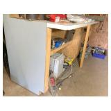 """work table 108""""x33x42"""", Formica top & wired w/4"""