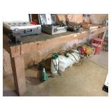 "table 144x30x41 H, 4"" vise & grinder"