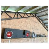 car speakers,boombox, power dist.module, solar