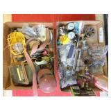 drop light, straps, gauges & misc. shop items