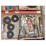 air ratchet, air chisel, grinding wheels & misc.