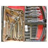 box of open & box end wrenches & case of open