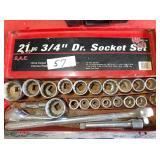 21-pc 3/4 drive socket set