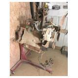 Jeep motor, manifold,& engine stand
