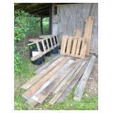 rough oak boards