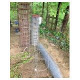 concrete wire, fence wire, tomato frames &
