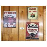 3-metal signs