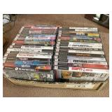 box of Play Station II games