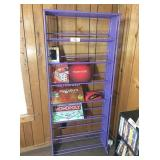 purple plastic book holder 30x10x70H, games &