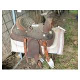 Mexican made cutting & barrell race saddle
