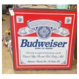Budweiser lighted sign 4
