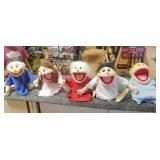 5-Vintage Hand Puppets from Train Depot in Tampa