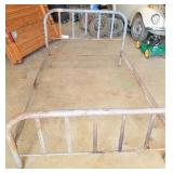 Antique metal bed frame