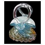 Very Pretty Blown Glass Purse Home Decor