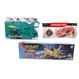 3 Electronic Car, Plane, and Gun Toy Sets