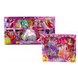 2 Fashion Dolls with Clothes and Accessories Sets