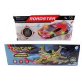 Bump and Go Electronic Car and Fighter Plane Toys