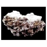 """Large 9"""" x 4"""" Black and White Crystal Formation"""