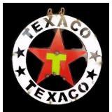 "15"" Round Metal Art Texaco Sign"