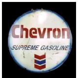 "22"" Round Metal Art Chevron Sign"