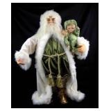 "28"" Tall Ornate Santa w/Baby Figure - NEW!"