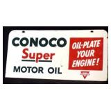 CONOCO SUPER MOTOR OIL DS Porcelain Sign
