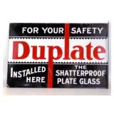DUPLATE Glass Porcelain DS Flange Sign