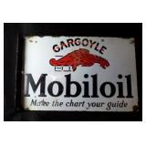 GARGOYLE Mobiloil Flange Sign