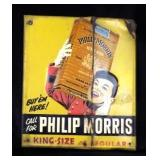 PHILIP MORRIS Embossed Metal Advertising Sign